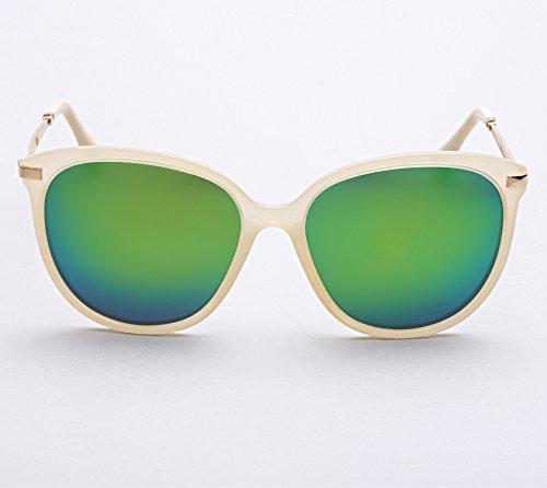 Diamond Candy Lunettes de soleil Pour Femmes Anti-UV Style Nerd Wayfarer Rétro Vintage Jaune / Vert