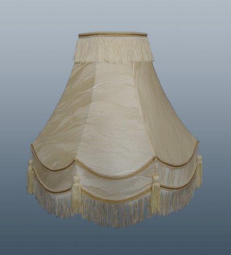 40,6cm doppelt Scallop Iceberg Lampenschirm mit gold trim-, Fransen und Quaste -