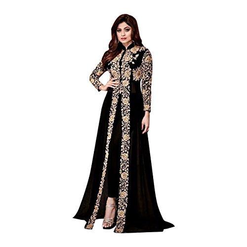 Pakistanische muslimische Frauen Kleid Zeremonie Bollywood Party Wear Dress ethnische gerade Hose Jacke Designer Frauen indischen Salwar Kameez 651 (Hose Kameez)