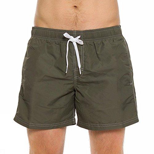 Pantaloncino Mare Uomo Vita Elastica - Dark Ar. Green #3 - Sundek - m504bdta100 403/dar/gre (xxl)