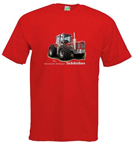Kinder T-Shirt | Bildmotiv, Der bärenstarke Schlepper | rot | Größe 128