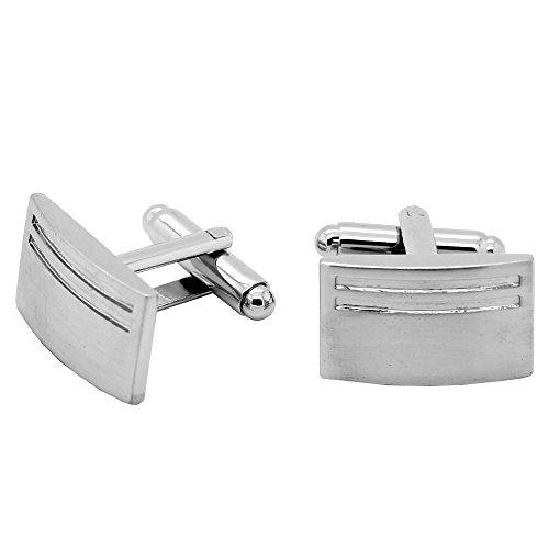 tumundo 1 Paar Elegante Manschettenknöpfe Silbern Manschettenknopf für Oberhemd Krawatte Cufflinks Hochzeit Manschette, Modell:Modell 5