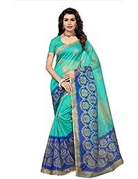 Indian Fashionista Women's Kota Dorie Saree with Blouse Piece (Printed Saree) (NM-KOTADORIE-KD31_Free Size_Blue)