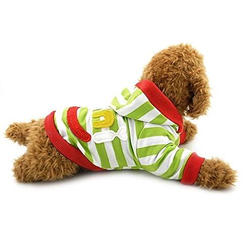 Pegasus Pet Kleidung Mini Smile Patch gestreift Sweatshirt Shirt Fleece Pullover Winter für kleine Hund Katze Puppy