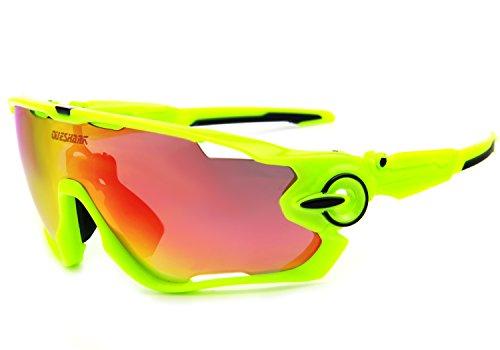 queshark TR90gafas de sol, marco, polarizadas, para ciclismo, para h