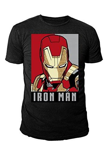 Man Herren T-Shirt - Obey Style (Schwarz) (S-XL) (L) (Civil War Spiderman Kostüm)