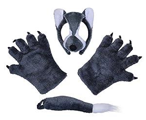 Bristol Novelty DS139 Wolf Costume Accessory Kit, One Size by Bristol Novelty