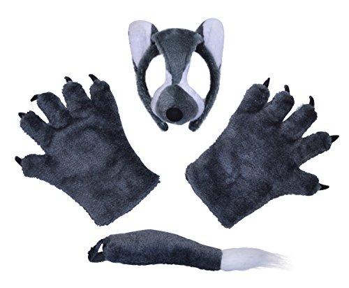 Kleiner Junge Kostüm Wolf - Bristol Novelty DS139 Wolf Accessoiren, grau, Einheitsgröße
