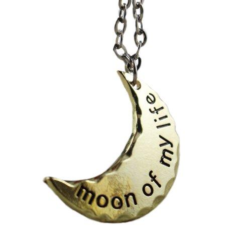 """Game of Thrones. Daenerys mezzaluna. """"Moon Of My Life"""" oro pendente della collana placcato"""