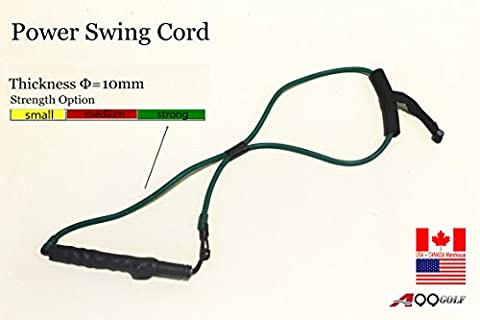 A99 Golf Power Flex Trainer swing training Resistance band for right handed golfer (Large Resistance)