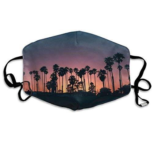 Windproof Dust Protection Balaclava Full Face Mask Coconut Tree Sunset Mouth Mask Multicolor1 -