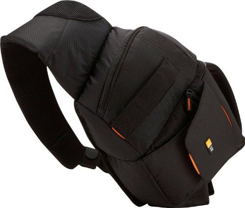 Case Logic SLRC205 SLR Slingbag S Kamerarucksack mit einstellbarem Schultergurt (für Spiegelreflex) schwarz/orange -