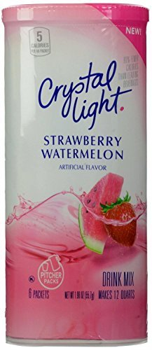 Crystal Light Strawberry Watermelon Drink Mix, 12-Quart Canister (Pack of 4)