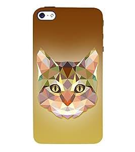 Meow Cat 3D Graphics 3D Hard Polycarbonate Designer Back Case Cover for Apple iPhone 5