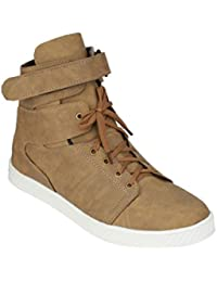 LAYASA Synthetic Leather Partywear Designer Branded Layasa Casual Shoes For Men And Boys Beige Color