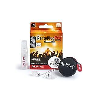 Alpine PartyPlug Pro Natural - Ohrstöpsel Für Festspiele,Konzerte und zum Ausgehen