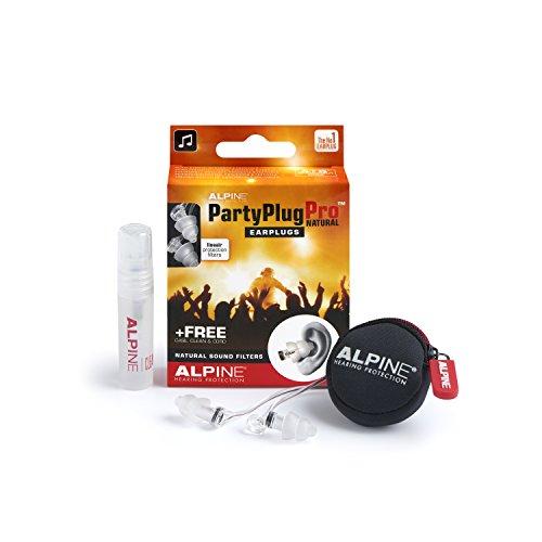 Alpine PartyPlug Pro Ohrstöpsel - Partys, Musikfestivals und Konzerte sicher genießen - Flat Filter - Bequem und hypoallergen - Wiederverwendbare Ohrstöpsel -