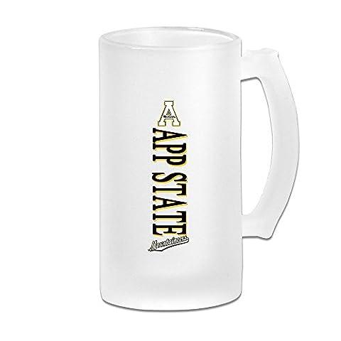 Mensuk MeiSXue Appalachian State University ASU Mountaineers Logo Beer Mug
