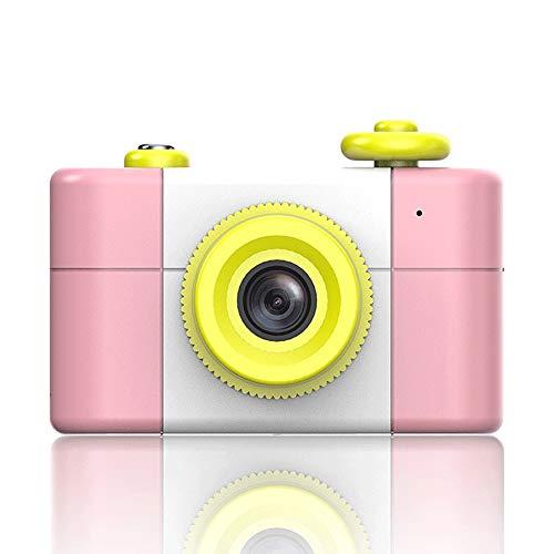 Pinjeer Automatische Kinder Kinder Digitalkamera Cam Recorder Foto 5MP Mini Simulation Digital HD wirklich kleine SLR Video Digital Boy Girl Toy Geburtstagsgeschenke (Color : Pink, Größe : 16G) Digitale Slr-cam