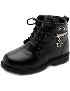 Wawer Winter Kinder Kinder Mädchen Anti-Rutsch-Kunstleder Stiefel Martin Stiefel Schnee Schuhe für 1,5-4 Jahre...