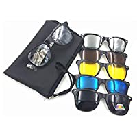 5 in 1 Magnetic Clip On Sunglasses