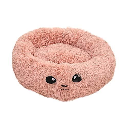 Yowablo Atmungsaktive Katze Haustier Hund liefert Pad Bett weich warm voll Plüsch Schlafmatte (68 * 47 * 5cm,Rosa)