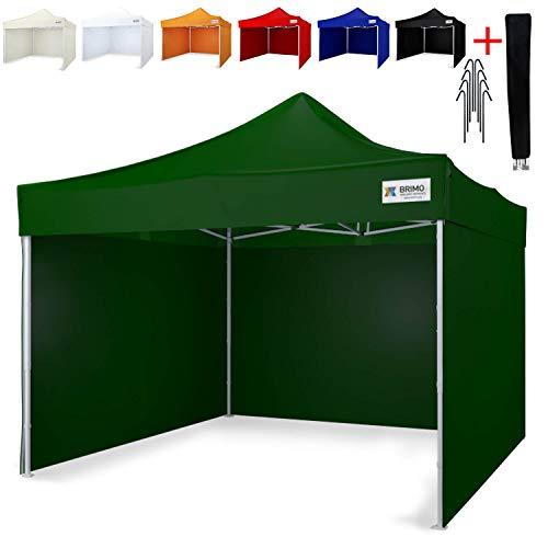 Party Zelt Exclusive BRIMO  Komplett 3 volle Wände + 8 Verankerungsdübel und Schutzhülse Gratis!...