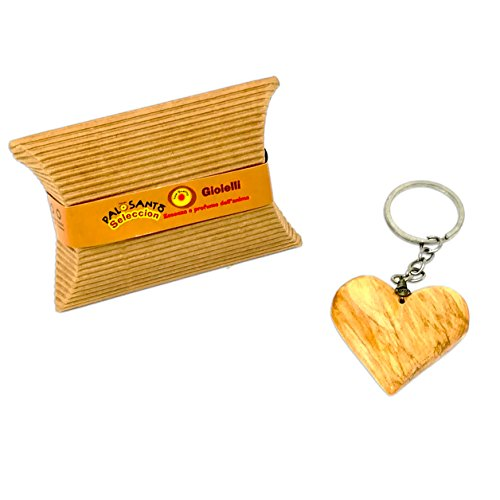 Palo Santo Schmuck Schlüsselanhänger Herz – Holzschmuck aus Palo Santo Holz