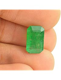 Getgemstones Emerald Stone Original Certified Square Cut Loose Precious Panna Gemstone 7.25 Ratti