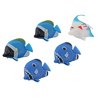 Aquarium Decor Floating Plastic Fish Multicolor 5 Pcs 41Uz3g4C1NL