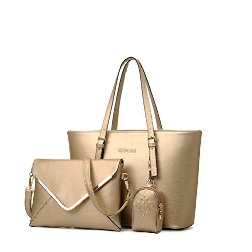 Damen Handtasche Leder Henkeltasche Vintage Umhängetasche Schultertasche