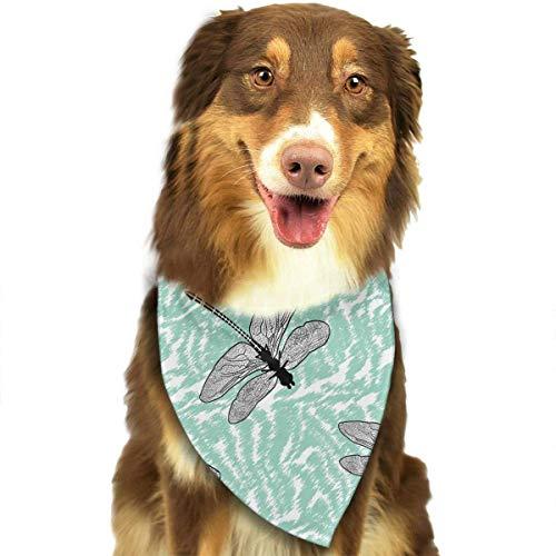 Valentine J Kostüm - Hipiyoled Libelle Vintage Muster stilvolle Haustier Hund Katze Bandana Halstuch Halstuch Schal