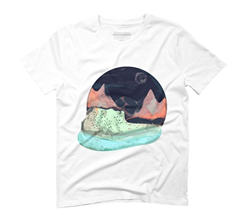 Mountains Men's Graphic T-Shirt - Design By Humans White
