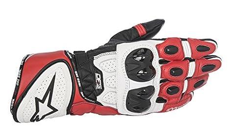 Gants Moto Alpinestars Gp Plus - Gants Alpinestars GP Plus R Noir Blanc