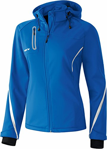 Erima Damen Jacke Softshell Function, New Royal/Weiß, 36, 906405