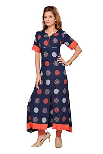 Payal Kurtis Blue Coloured Front Cut Kurti  available at amazon for Rs.949