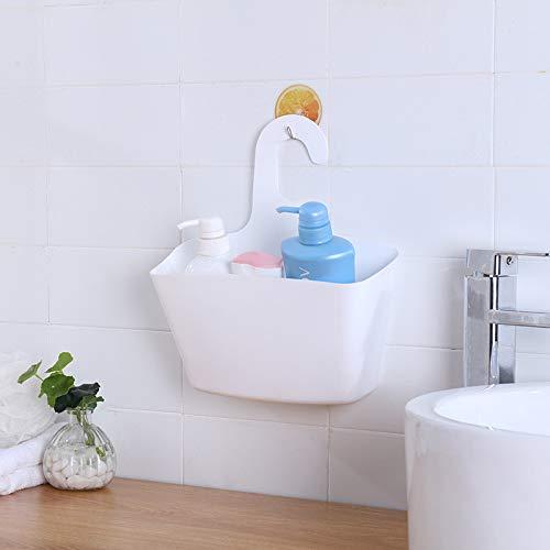 Queta appendere scatola plastica cesto contenitore per bagno, camera da letto bianco white