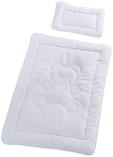 Mack Kuschliges Kinder Betten Set Decke 100 x 135cm Microfaser Baby Stepdecke im Set mit 1x Kissen 40x60cm (Ganzjahresdecke)