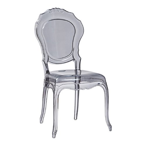 LOT DE 2 CHAISES TRANSPARENT FUME'REGINALS DESIGN MADE IN ITALY.