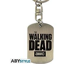 THE WALKING DEAD - Keychain Dog tag logo X4