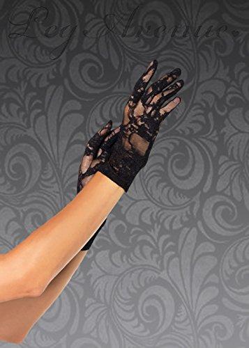 Kostüm Dress 1940er Jahren Fancy - Struts Fancy Dress Womens 1940er Jahre Stil schwarzer Spitze Handschuhe
