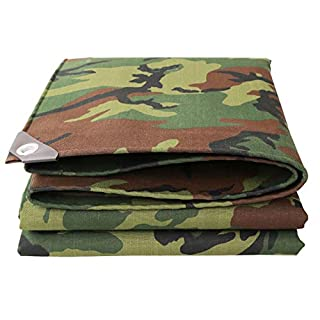 YFCLA Bâche Robuste Camouflage,Tissu de Polyester Revêtement en résine tissé,100% imperméable pour Le Camping, la pêche, Le Jardinage et Les Animaux domestiques (Choisir la Taille),2X2