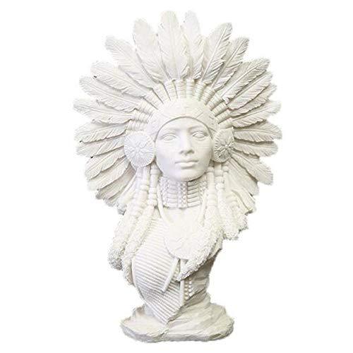 Kreative Kostüm Indische - DDCYY Kreative Wohnkultur, Sandstein Harz Handwerk, Indische Frau Statue, Abstrakte Charakter Dekoration, BüRo, Wohnzimmer, Geschenk (9X20X30Cm)