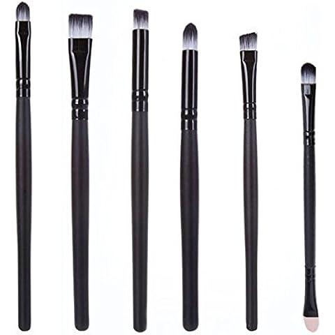 Fortan 6 PCS spazzola cosmetico di trucco Trucco labbra pennello ombretto pennello bianco
