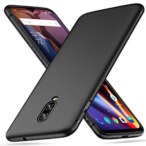 Peakally OnePlus 6T Hülle, Matte Oberfläche Soft Hüllen [Ultra Dünn] [Kratzfest] TPU Schutzhülle Case Weiche Handyhülle für OnePlus 6T -Schwarz