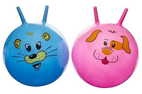 wuselwelt 4755, Kinderhüpfball 45 cm, Tiergesichter, Kinder Hüpfball, Springball, Macht Nicht nur Spass, trainiert auch gleichzeitig