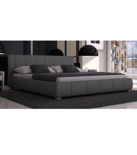 Sedex Bett Luna 180x200cm Doppelbett/Polsterbett / Kunstleder - grau