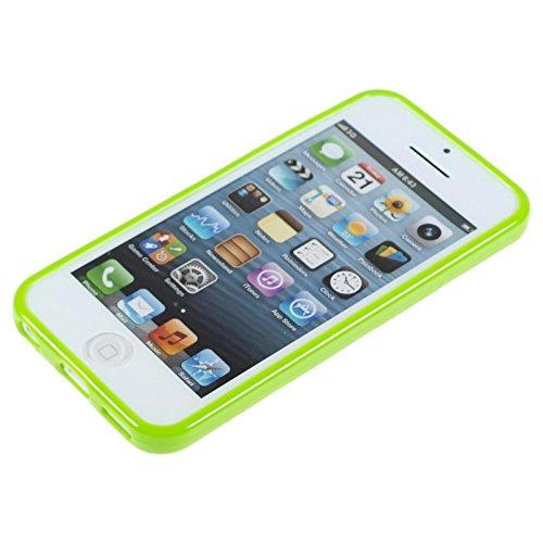 PhoneNatic Case für Apple iPhone 5c Hülle Silikon Design:01 Polkadot Cover iPhone 5c Tasche + 2 Schutzfolien Design:05