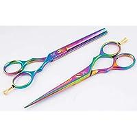 6.0'' profesionales tijeras de la peluquería, Peluquería Tijeras + tijeras de reducción de peluquería., Pelo tijeras de reducción fijados para Barberos incluyendo accesorios GRATIS- profesional tijeras de peluquero,tijeras de peluquería - (Rosa Honey Comb Set).