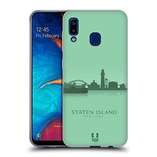 Head Case Designs Staten Island Landmarken Silhouettes 2 - Us Soft Gel Huelle kompatibel mit Samsung Galaxy A20 / A30 (2019)